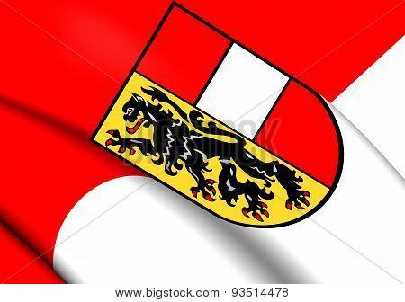 Flag Of Salzburg, Austria.