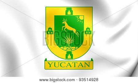 Flag Of The Yucatan State, Mexico.
