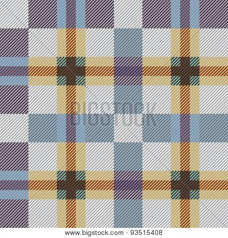 Blue seamless tartan pattern