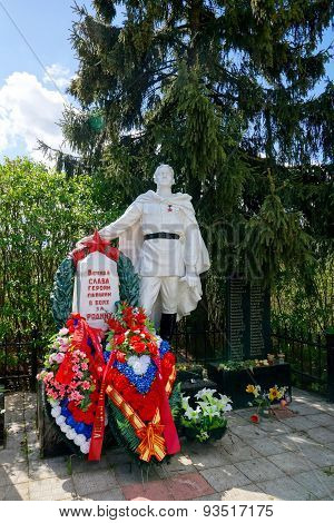 The monument on a mass grave of Red Army soldiers, Kapan, Russia
