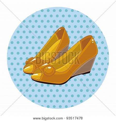 High-heeled Shoes Style Theme Elements