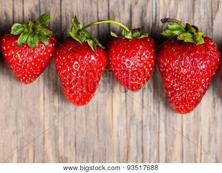 Fresh Ripe Strawberries Close-up