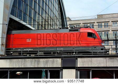 The Train Leaving The Station Alexanderplatz