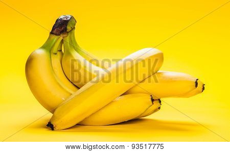 Bunch Of Ripe Bananas Closeup