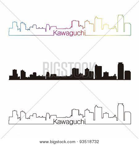 Kawaguchi Skyline Linear Style With Rainbow