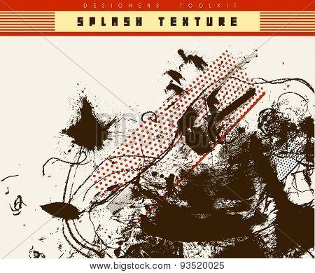 ink splash background-vector texture