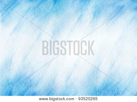 Winter Blue Watercolor Background. Vector Template