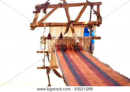 Traditional Loom And Homespun Fabric