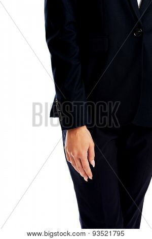 Businesswoman right side of body.