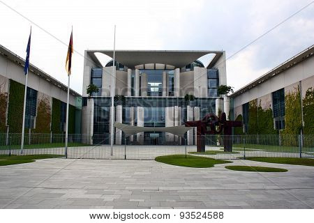 Facade View Of The Bundestag In Berlin