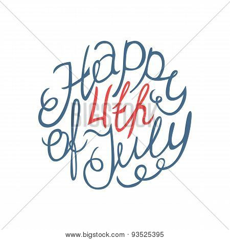 Happy Independence day handlettering element