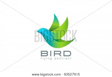 Flying Bird abstract Logo design vector template. Creative Travel Success Logotype icon.