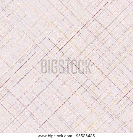 Grunge seamless pattern. Plaid Fabric texture. Random lines. Delicate colors. Abstract.