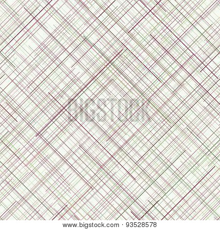 Abstract background. Diagonal random lines. Pale colors. Seamless plaid backdrop.