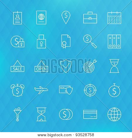 Banking Finance Business Money Line Icons Set
