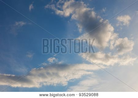 beautiful, heavenly background. clouds against the blue sky