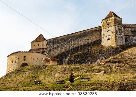 Medieval fortress in Rasnov, Romania