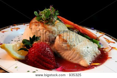 Salmon With Strawberry