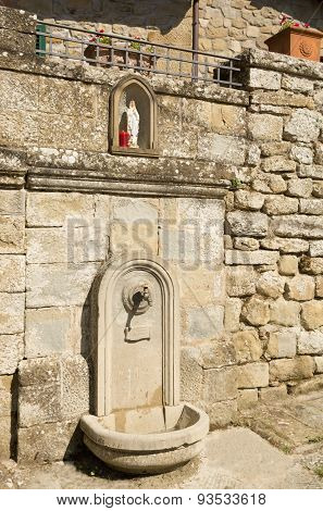 The Fountain Of Holy Water In Castel San Niccolo, Tuscany