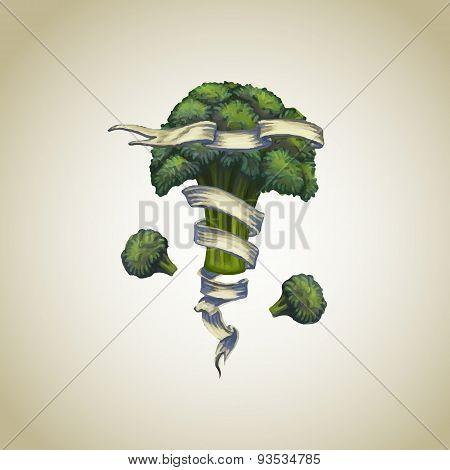 Broccoli With Heraldic Ribbon
