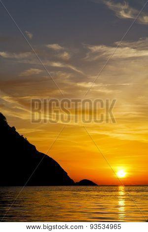 Mountain  Sand And Sea In Thailand Kho Tao Bay Coastline