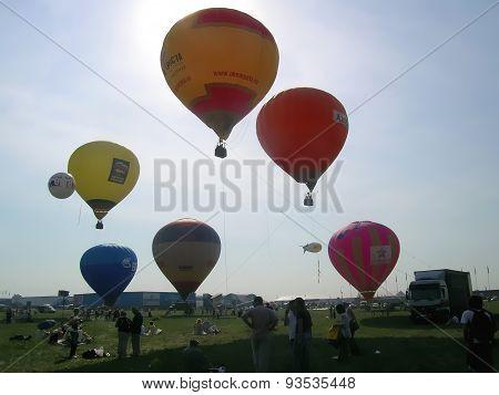 Air-balloons at MAKS airshow
