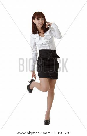 Cute Business Woman Of Asian