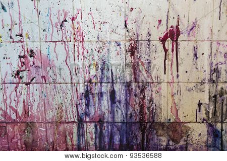 spattered paint