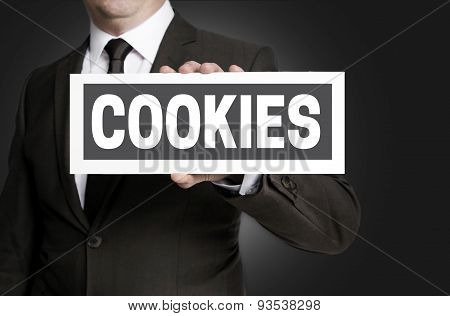 Cookies Plate Is Held By Businessman