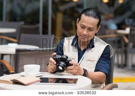 Mature photographer