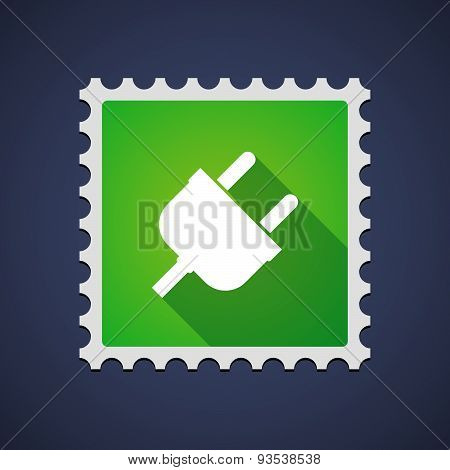 Mail Stamp Icon With A Plug