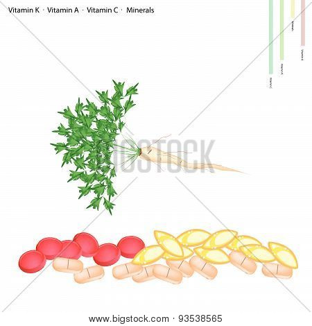 Parsley Root With Vitamin C, B6 And Minerals