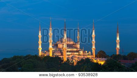 The Sultan Ahmed Mosque (Sultan Ahmet Camii). Istanbul