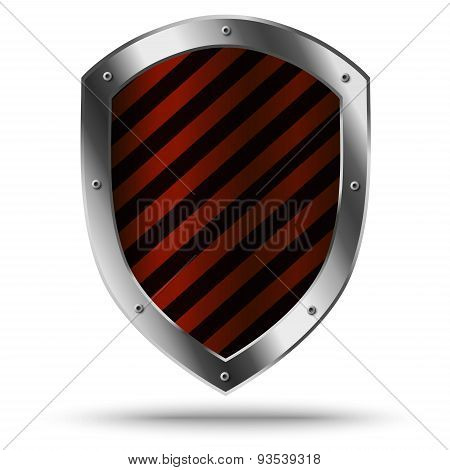 Classic Metal Shield. Protection Or Hazard Symbol.