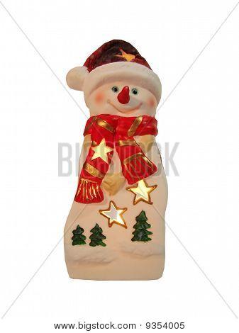 Snowman As Candlestick
