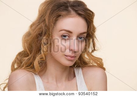 Tender lady with perfect skin