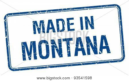 Made In Montana Blue Square Isolated Stamp
