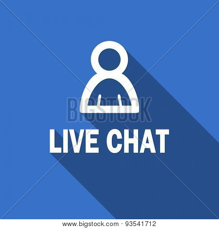 live chat flat icon