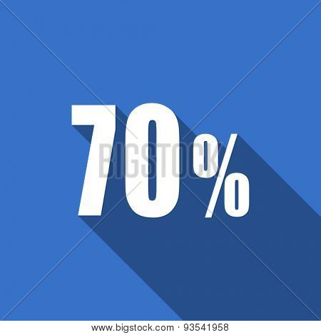 70 percent flat icon sale sign