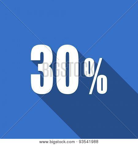 30 percent flat icon sale sign