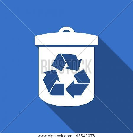 recycle flat icon recycling sign