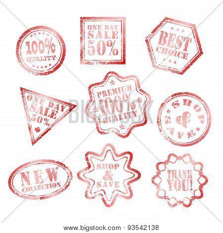 set of best choice grunge stamp Rad