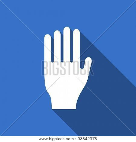 stop flat icon hand sign