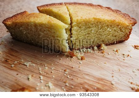 Piece of sliced pie