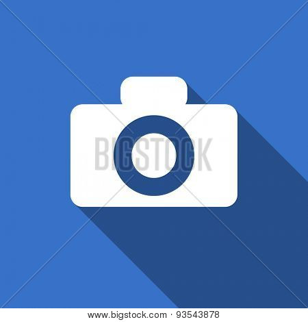 camera modern flat icon with long shadow