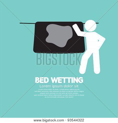 Bed Wetting Symbol.