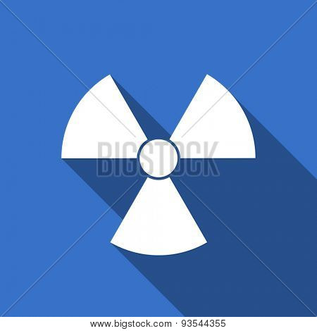 radiation modern flat icon with long shadow atom sign