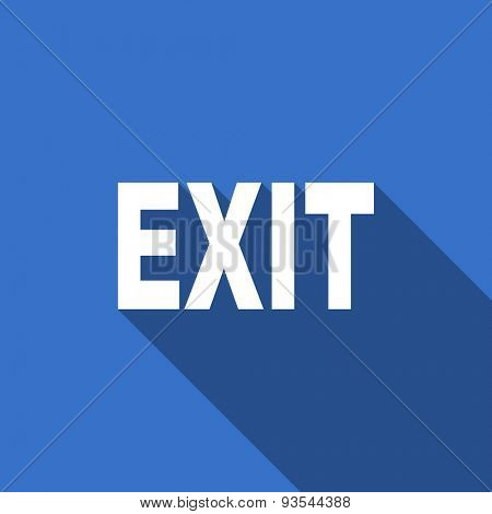 exit modern flat icon with long shadow