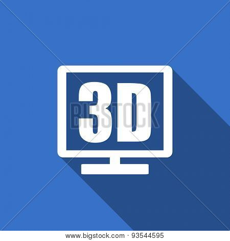 3d display modern flat icon with long shadow