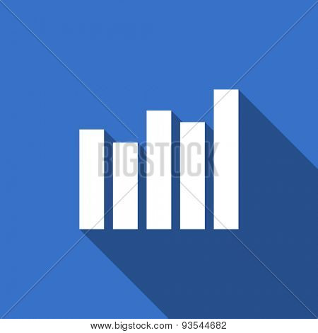graph modern flat icon with long shadow bar graph sign
